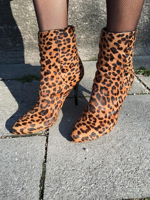 leo print ankle boots Jimmy Choo