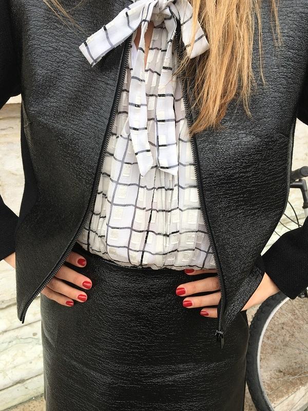 блуза с бантом детали