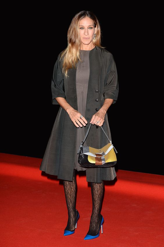 RIMINI, ITALY - APRIL 16: Sarah Jessica Parker arrives at the Calzedonia Show Forever Together at Palazzo dei Congressi on April 16, 2013 in Rimini, Italy. (Photo by Venturelli/WireImage)